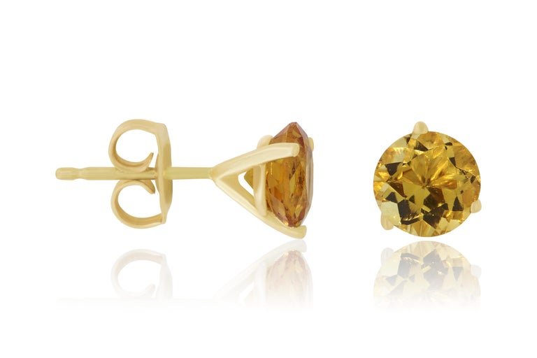The most classic of all, you will shine with these Brilliant Round cut Citrine Earrings. At 1.55 Carats, we knew it was a match made in heaven when we found these prestige quality stones, matching so perfectly in quality and size. A staple piece for