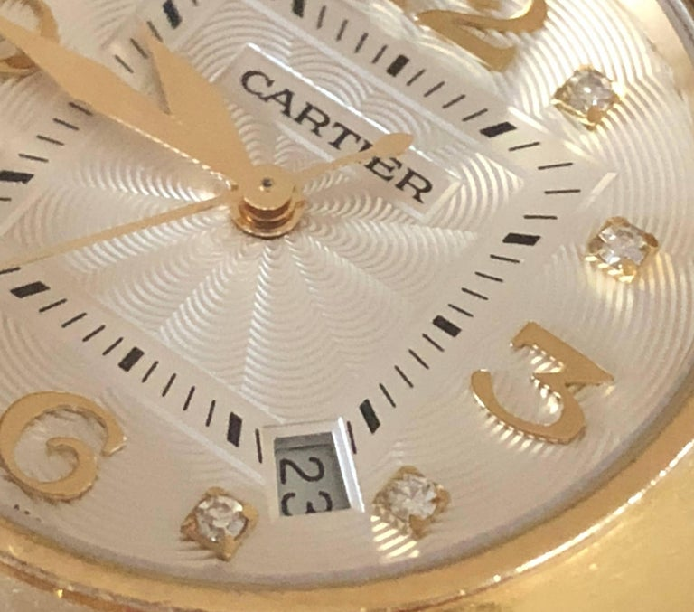 Cartier Yellow Gold Diamond Pasha Watch For Sale 2