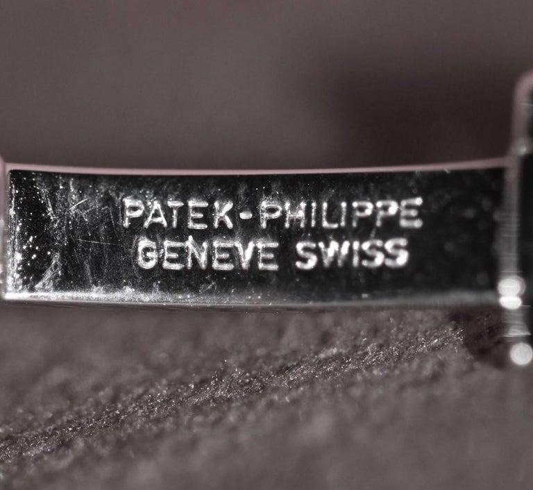 Patek Philippe Calatrava 18 Karat White Gold and Diamond Watch For Sale 1