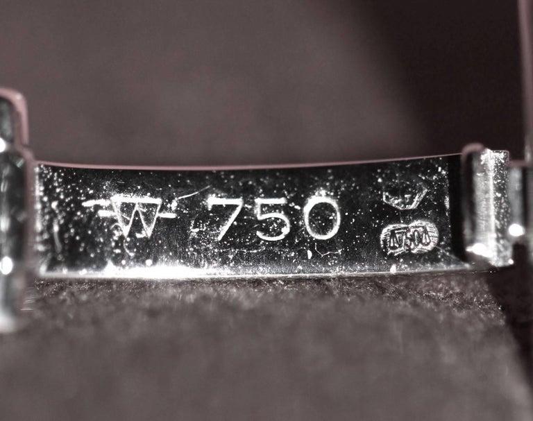 Women's Patek Philippe Calatrava 18 Karat White Gold and Diamond Watch For Sale