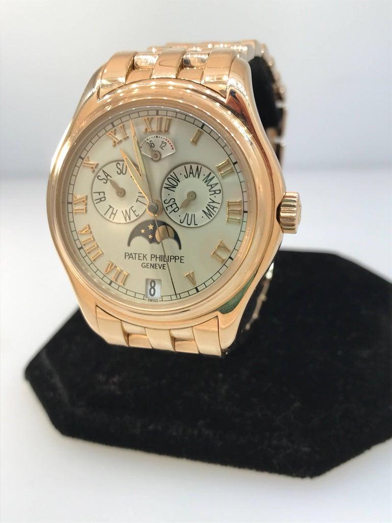 Men's Patek Philippe rose gold Annual Calendar Bracelet Wristwatch Ref 5036/1R For Sale