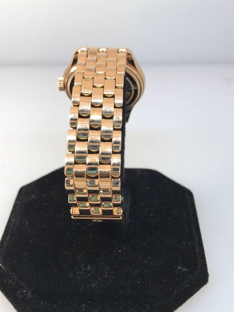 Patek Philippe rose gold Annual Calendar Bracelet Wristwatch Ref 5036/1R For Sale 3