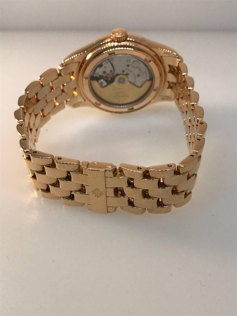Patek Philippe rose gold Annual Calendar Bracelet Wristwatch Ref 5036/1R For Sale 4