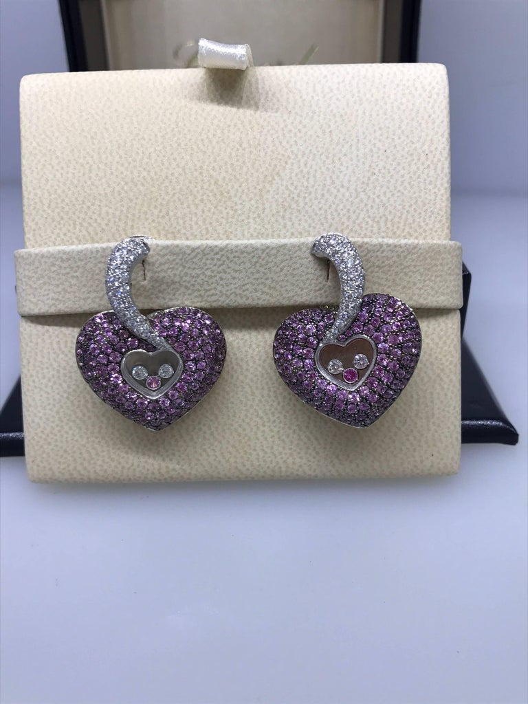 Chopard Happy Diamonds Heart Shape Eearrings  Model Number: 84/4315/11-20  100% Authentic  Brand New  Comes with original Chopard box, certificate of authenticity and warranty and jewels manual  18 Karat White Gold  Clip-on style earrings  108