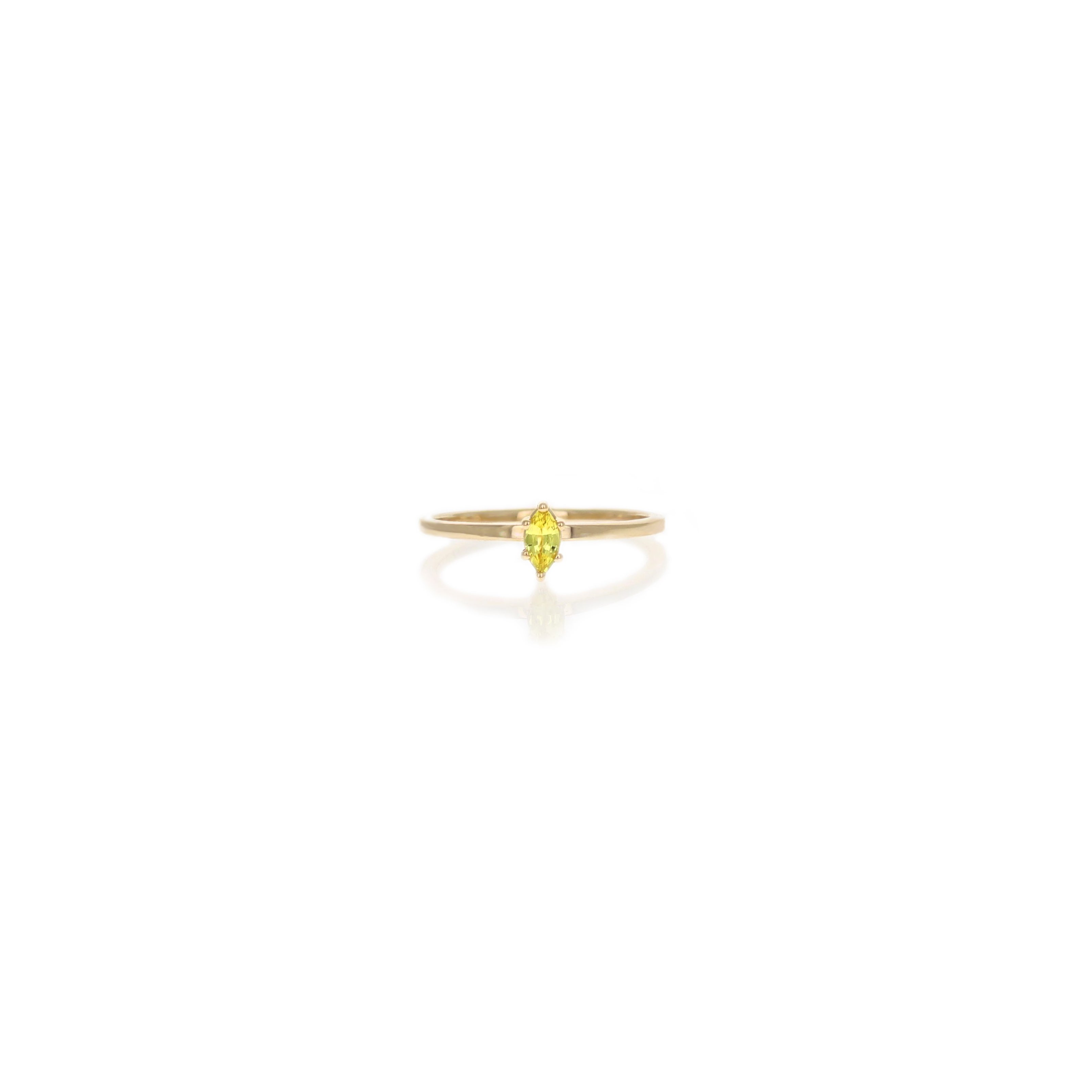 ed938ed5ddc97 Penelope Ring 14 Karat Yellow Gold with Yellow Marquise Sapphire