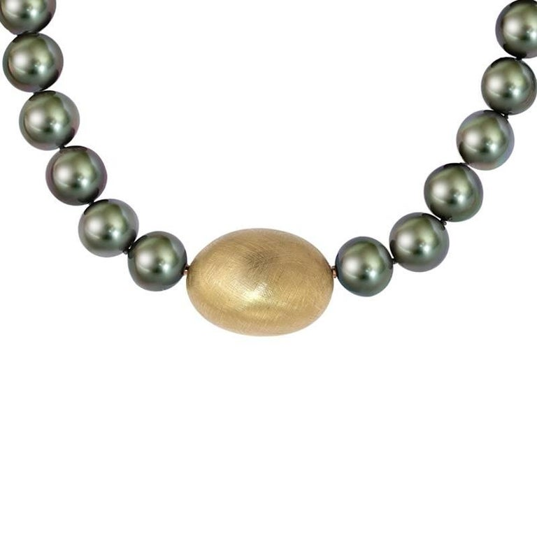 Certified Tahity Pearl Necklace with four handmade Interchangeable Clasps
