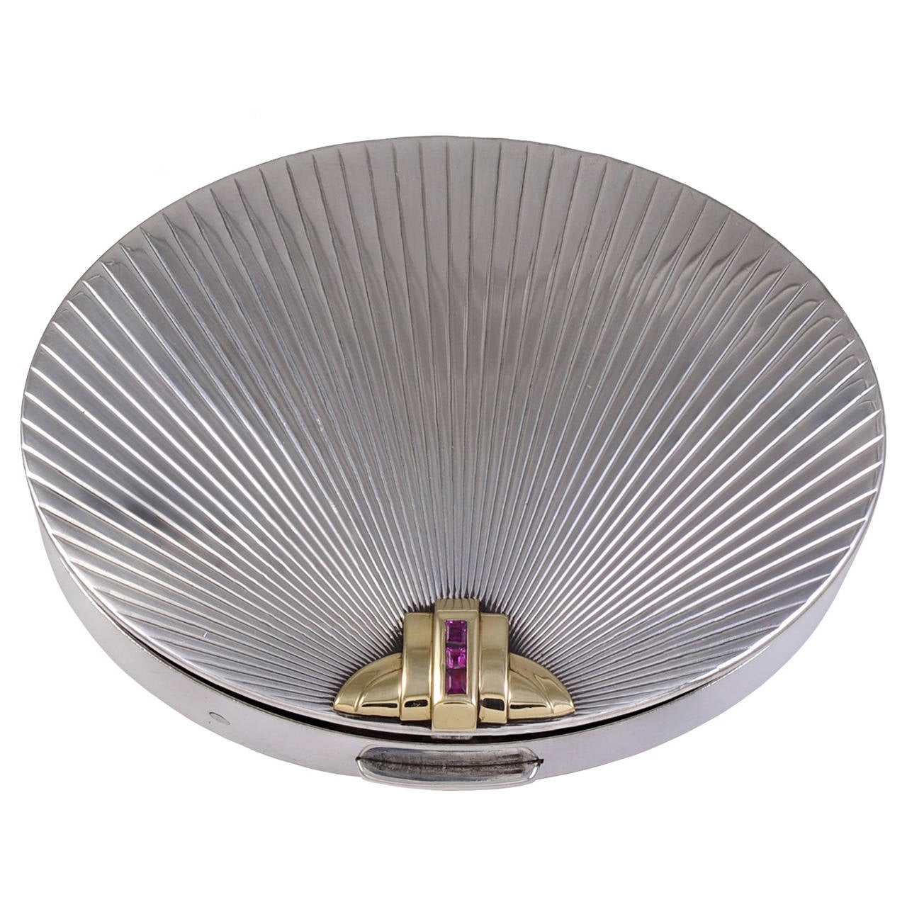 Tiffany & Co. Ruby Silver Gold Compact