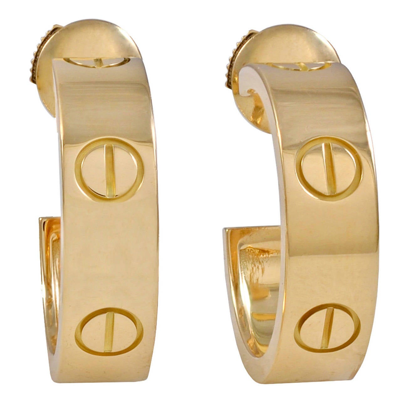 Cartier Gold LOVE Earrings For Sale at 1stdibs