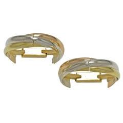 Cartier Gold Trinity Cufflinks