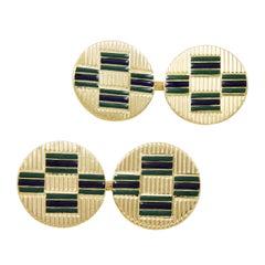 Art Deco French Enamel Cufflinks