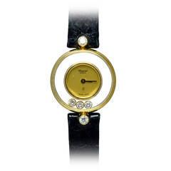Chopard Lady's Yellow Gold Happy Diamond Quartz Wristwatch