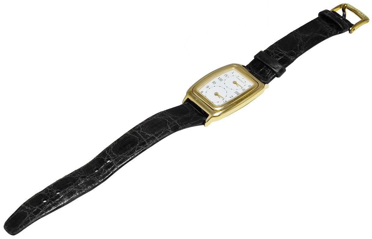 Tiffany & Co. Lady's Yellow Gold Dual Time Zone Quartz Wristwatch 2
