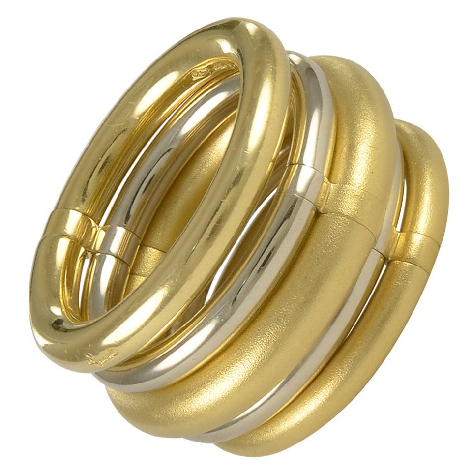 "POMELLATO ""TUBALARE"" Gold Five Part Ring For Sale"