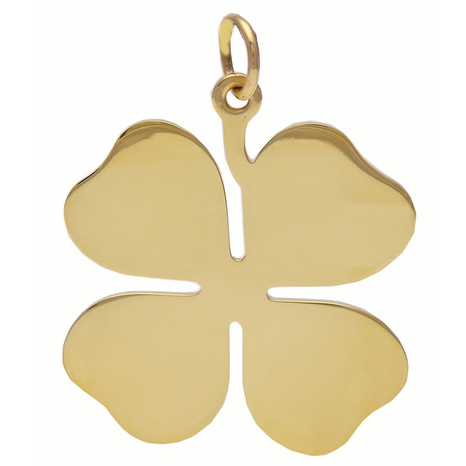 3070be7327336 Tiffany & Co. Gold Four Leaf Clover Pendant/Charm