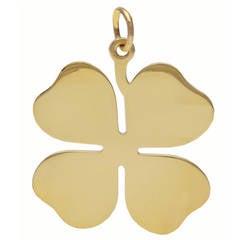 Tiffany & Co. Gold Four Leaf Clover Pendant/Charm
