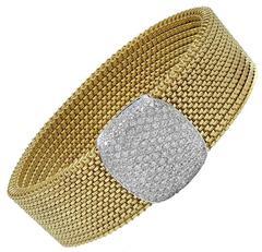 Diamond Gold Stretch Bracelet