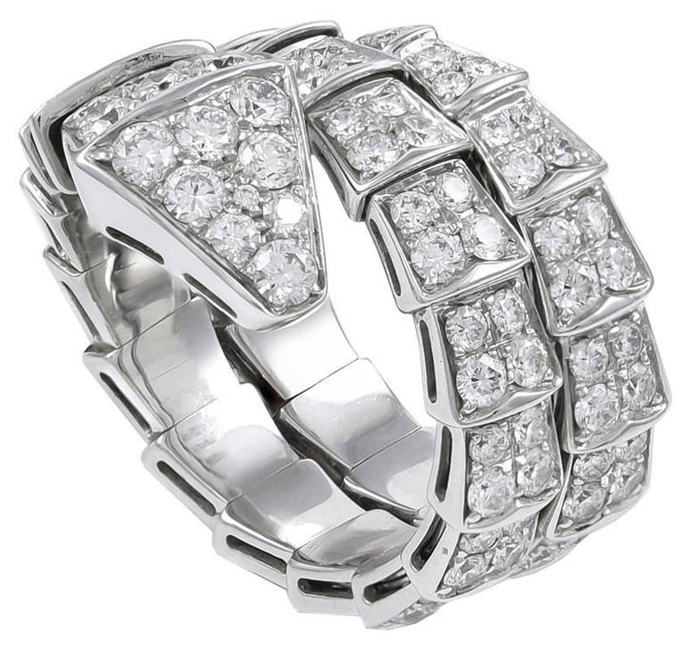 Bulgari Serpenti Diamond Gold Ring 2