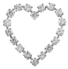 Tiffany & Co. Diamond Platinum Heart Shaped Pin