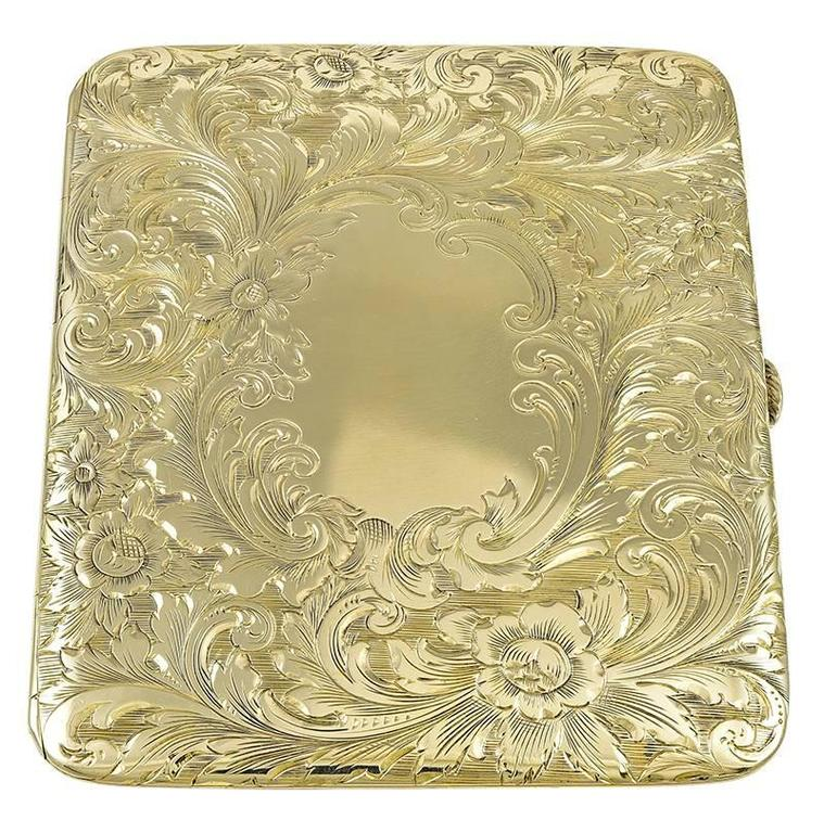 Antique Gold Traveling Picture Frame