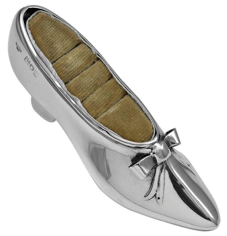 Antique Sterling Shoe Ring Holder