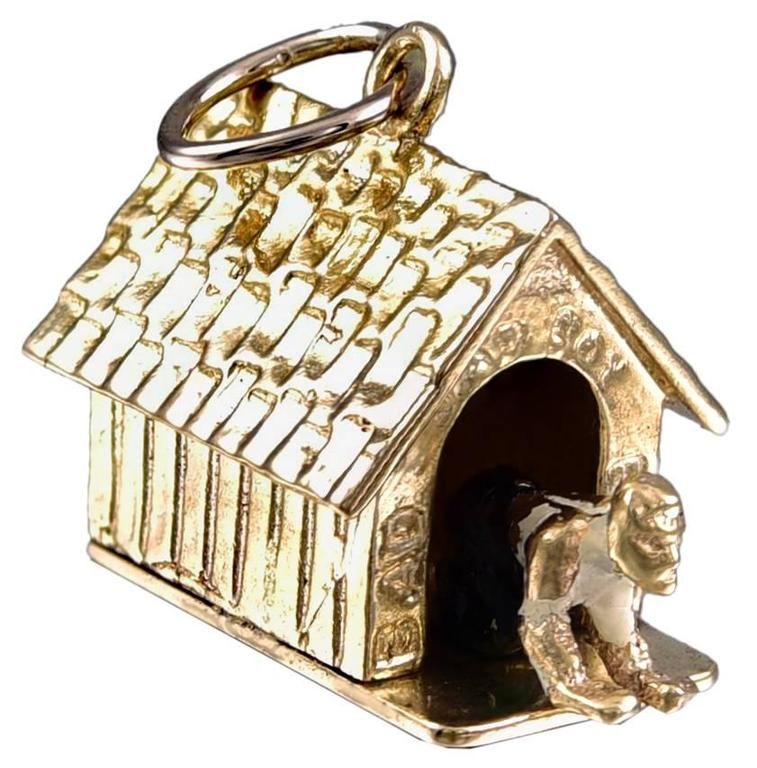 bad boy in doghouse gold mechanical charm for sale at 1stdibs