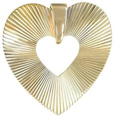 Retro Gold Heart Pin/Pendant