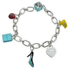 Tiffany & Co. Sterling and Enamel Charm Bracelet