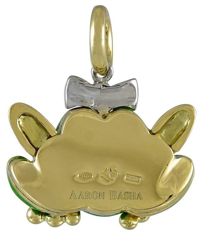 Aaron Basha Enamel Gold Princess Frog Charm For Sale at ...