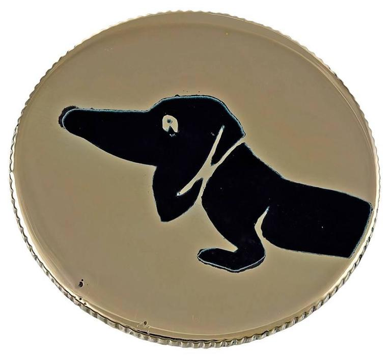 Gold and Enamel Best Ever Dachshund Head or Tail Coin