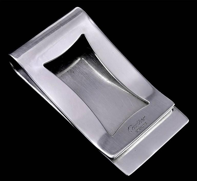 Cartier Sterling Silver Money Clip At 1stdibs