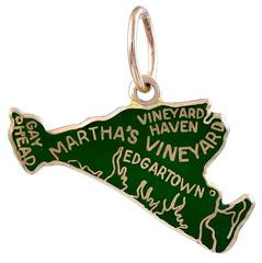Enamel Gold Martha's Vineyard Charm