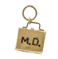 Gold Doctor Bag Charm with Baby Inside