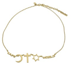 Gold Peace/Unity Necklace