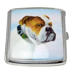 Antique Enamel Bulldog Case