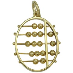 Large Gold Abacus Charm