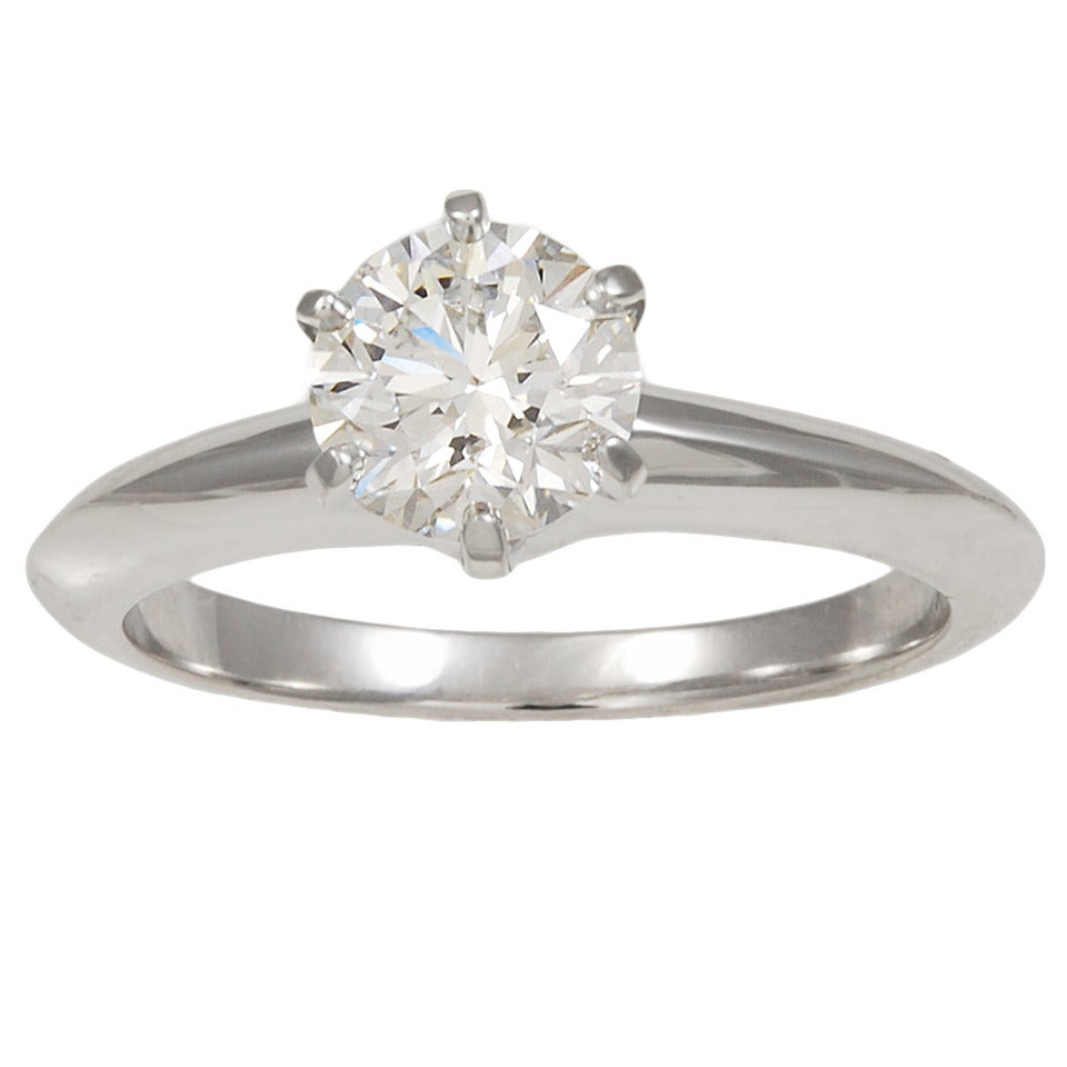 tiffany and co diamond platinum engagement ring at 1stdibs