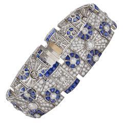 Kwiat Sapphire Diamond Platinum Bracelet