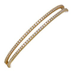Tiffany & Co. Pair of Metro Diamond Gold Bracelets