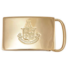 Tiffany & Co. Gold Belt Buckle