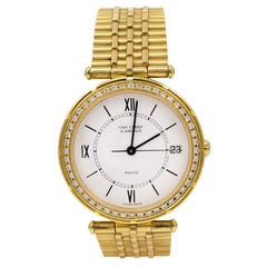 Van Cleef & Arpels Lady's Yellow Gold and Diamond Wristwatch with Bracelet