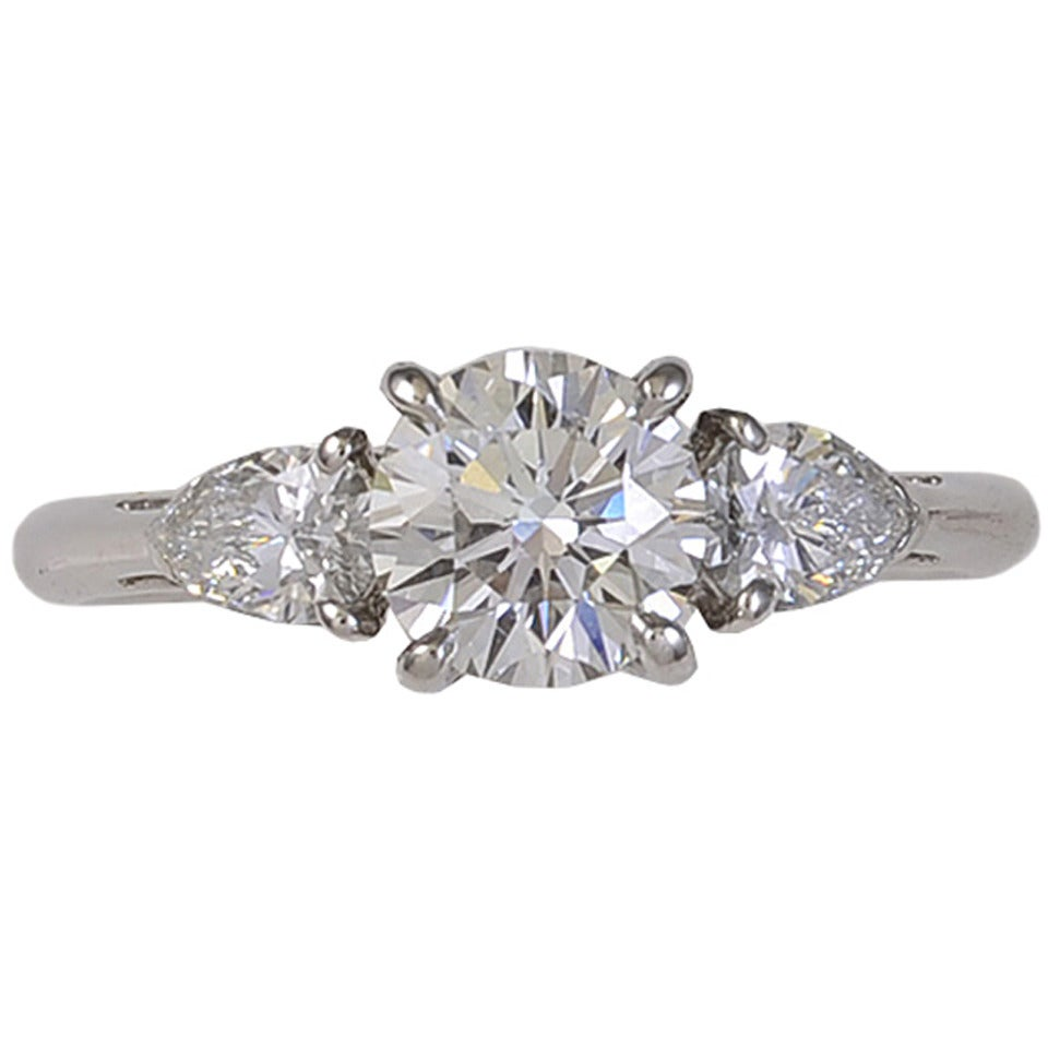 Tiffany & Co. Diamond Platinum Engagement Ring For Sale