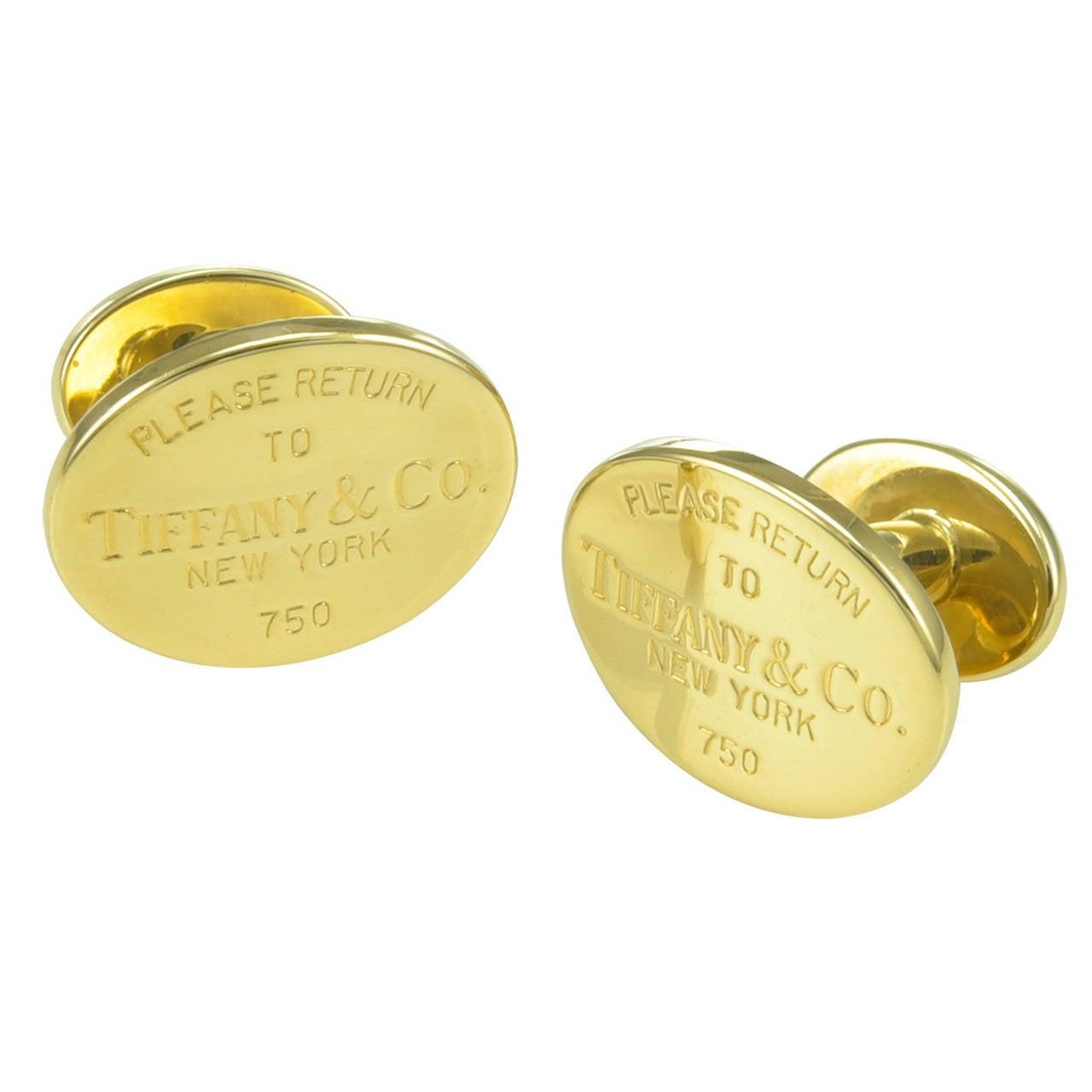 Jewelry Cufflinks Cufflinks Tiffany Co Gold Cufflinks Id J 610382 Tiffany Cuff Links