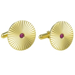 Tiffany & Co. Ruby Gold Cufflinks