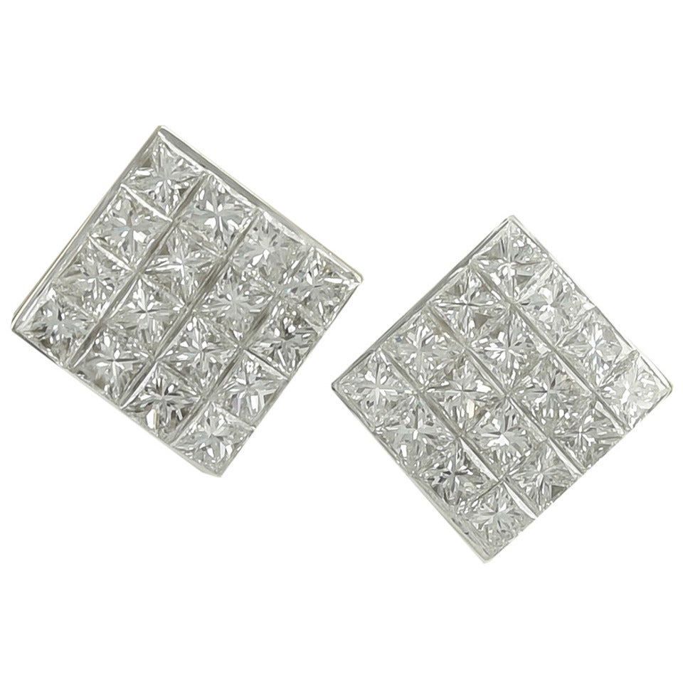 Tiffany & Co. Diamond Gold Ear Clips For Sale