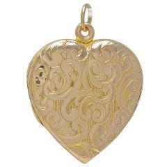 Antique Figural Gold Heart Locket