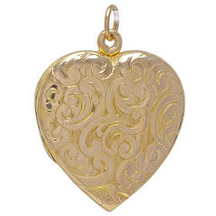 Antique Figural Gold Heart Locket