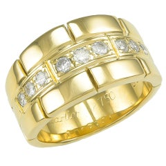 Cartier Diamond Gold Band Ring