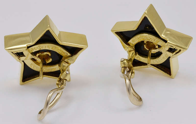 Eye-catching figural star earrings by Paloma Picasso for Tiffany & Co. 