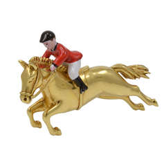 Horse and Jockey Brooch