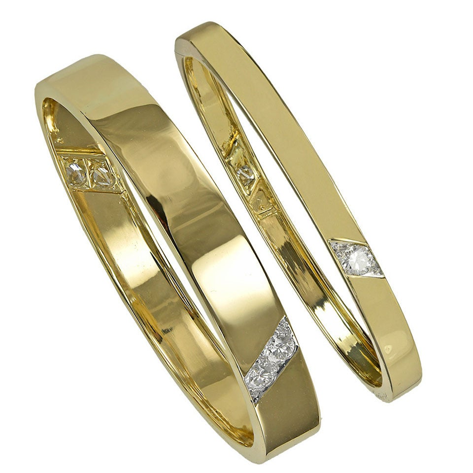 Cartier Diamond Gold Bangle Bracelets